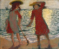 Maurice Denis, Sur la Plage (Fillettes à Contre-Jour) (On the Beach [Two Girls Against the Light]), 1892