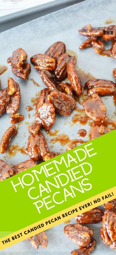 Candied Pecans in slow cooker, crockpot for best holiday candied pecans in the easiest no fail recipe Pecan Recipes, Candy Recipes, Candied Pecans Recipe, Holiday Side Dishes, Holiday Candy, Homemade Candies, Holiday Baking, Side Dish Recipes, Brown Sugar