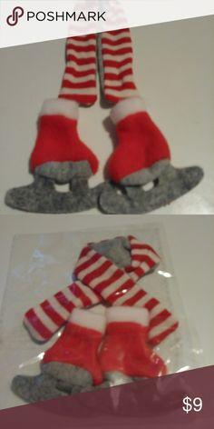 Elf On The Shelf Scarf And Ice Skates Outfit Cute scarf and ice skates  Bundle to save on Shipping Other