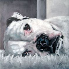 "DivaDogs, custom portrait paintings in oils by puci 8x8""/$180 #OilPaintingDog"