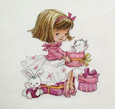 Dziewczynka z prezentami