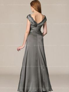 Mother of the Bride Long Dresses_Charcoal