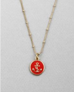 anchor necklace red or navy