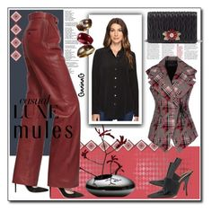 Casual Outfit by ganing on Polyvore featuring мода, Equipment, Good On Heels, Larusmiani, Givenchy, Miu Miu, vest, mules and polyvoreatitsbest