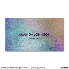 Minimalistic Glam Stylist Make Up Artist Vip Pack Of Standard Business Cards
