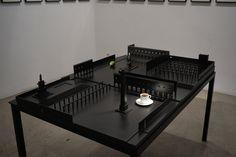 """Nocturna Plaza"", Jorge Méndez Blake #Exposición ""Nocturnos"" #TravesíaCuatro #Madrid #Arte #Art #ContemporaryArt #ArteContemporáneo #Escultura #Arterecord 2016 https://twitter.com/arterecord"