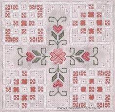 ... stitched on 22 hpi antique white hardanger fabric this hardanger kit