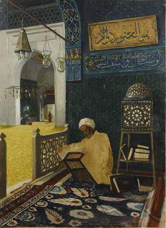 Osman Hamdi Bey - Kur'an Tilaveti , Reciting the Quran - Google Art Project.jpg