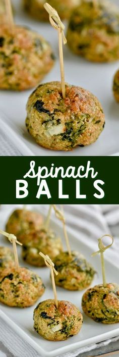 These Spinach Balls are the perfect appetizer!  They are delicious, easy to make, and more healthy than your average appetizer.