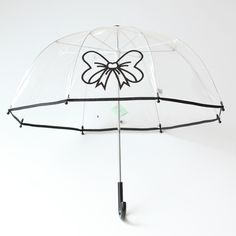 Pluie Pluie Girls R2U - BK Transparent Umbrella with Black Trim