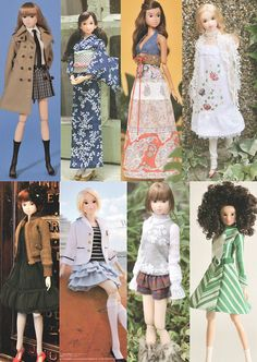 Sewing pattern lot for Momoko doll by eminishop on Etsy