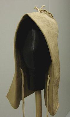 Bonnet - Brown Cotton bonnet worn by female patient in a mental health hospital in Victoria, Australia, circa 1900.