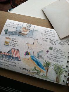 Tisha Sheldon's watercolor travel sketchbook