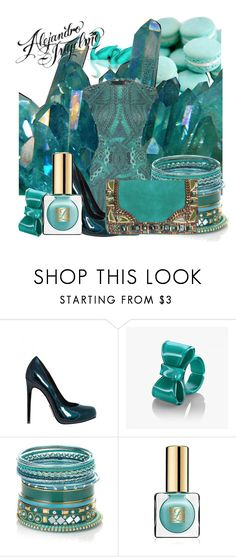"""""""Of Emeralds, Aqua Swans, and Macarons...and Alejandro Ingelmo and Alexander McQueen"""" by eclectic-ave82 ❤ liked on Polyvore featuring McQ by Alexander McQueen, Alejandro Ingelmo, Accessorize, Estée Lauder, Matthew Williamson, emerald green, pantone, alexander mcqueen, alejandro ingelmo and heels"""
