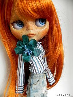 Untitled | Flickr - Photo Sharing! Ohhhhhhh that red hair and beautiful freckles ..love this Blythe doll!