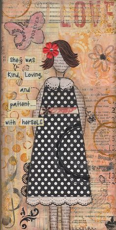 Patient Fine Art Print by SylviaDrown on Etsy Word Collage, Collage Art Mixed Media, Mixed Media Canvas, Collage Ideas, Art And Hobby, Altered Book Art, Open Art, Art Journal Pages, Art Journals