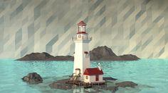 #see #hills #landscape #lighthouse