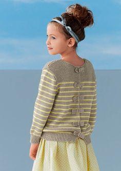 Girls' Jumper in Bergere de France Coton Fifty - 42728