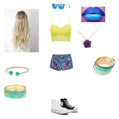 """Summer"" by eriadaampora on Polyvore featuring Converse, Papermoon, H&M, Ray-Ban, David Yurman and Fornash"