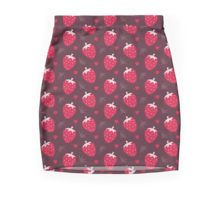 'Strawberries and Chocolate' Mini Skirt by daisy-beatrice Crazy Outfits, Cotton Tote Bags, Patterned Shorts, Gifts For Women, Chiffon Tops, Daisy, Mini Skirts, Canvas Prints, Chocolate