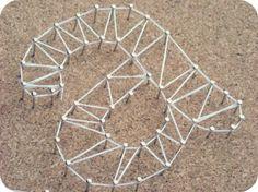 DIY: Cuadros con clavos e hilos / string art
