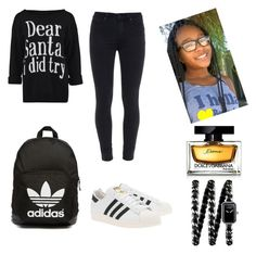 """""""DEAR SANTA"""" by mixedgirldoitbest ❤ liked on Polyvore featuring Paige Denim, adidas Originals, Dolce&Gabbana and Chanel"""