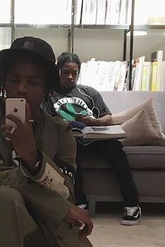 ASAP Rocky - Checks his phone while archive diving Asap Rocky Fashion, Lord Pretty Flacko, Bae, Tyler The Creator, Aesthetic Indie, American Rappers, My Vibe, Mode Style, Look Fashion