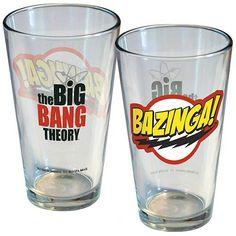Big Bang Theory Bazinga! Logo Pint Glass