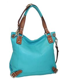 Look what I found on #zulily! Turquoise Torino Top-Zip Leather Satchel by Nino Bossi Handbags #zulilyfinds