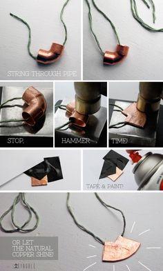 Diy Copper Pipe Necklace
