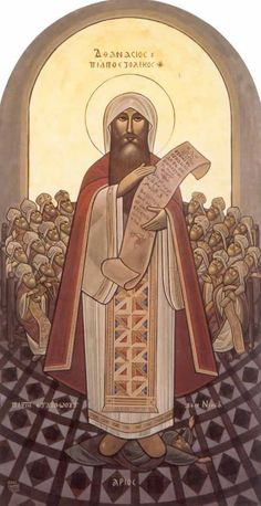 Saint Athanasius, resolute of defender of the faith. Feast day May 2nd.