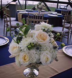Feeling #presidential at the #JFKlibrary. #c2mdesigns #floral #floraldesign #centerpiece #arrangement #rose #rosaprima #dahlia #hydrangea #garden #mercuryglass #compote #gold #chiavari #elegant #formal #VIP #event #corporateevents #boston #designsthatrock Designer: #christinemccaffery Event producer: @nxteventboston #Rentals by: @rentalsunlimited