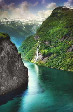 Geiranger a small tourist village of Norway.