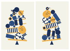 UP AND DOWN - OLD AND NEW by Jonathan Calugi, via Behance