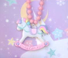 Adorable CCK necklace! <3 Rocking horses are the best <3