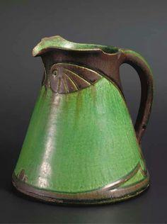 Willem C. Brouwer Antique Pottery, Pottery Mugs, Ceramic Pottery, Glass Ceramic, Ceramic Clay, Porcelain Ceramics, Art Nouveau, Art Deco, Clay Vase