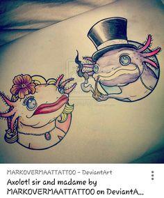 Neotraditional axolotls!