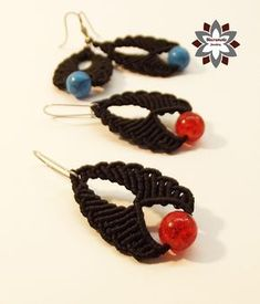 Macramotiv macrame knotted earring tutorial DIY