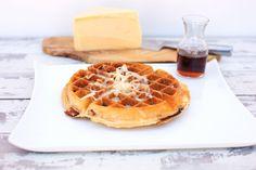CHEDDAR & CHERRY HARDWOOD SMOKED BACON Savory Waffles, Smoked Bacon, Cheddar, Hardwood, Cherry, Breakfast, Food, Natural Wood, Meal