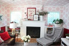 interesting ... wall and ceiling covering .. hmm ... Emily Henderson - Secrets From a Stylist, Portfolio