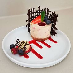 If anyone was wondering.yes, there's a slight degree of cheesecake fatigue at . If anyone was wondering.yes, there's a slight degree of cheesecake fatigue at this end.three lots of dinne Gourmet Food Plating, Gourmet Desserts, Fancy Desserts, Plated Desserts, Gourmet Recipes, Dessert Recipes, Sushi Recipes, Gourmet Foods, Food Plating Techniques