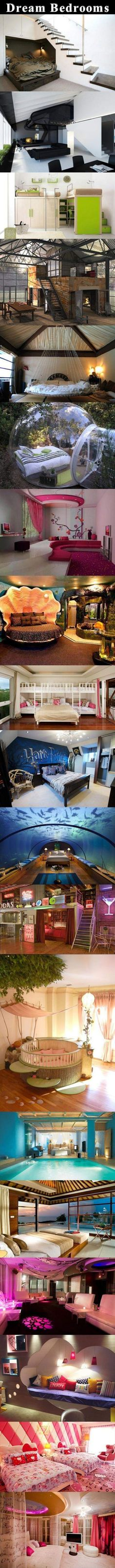Dream Bedrooms Awesomeness Dream Bedroom Dream Rooms Home Bedroom Awesome Bedrooms, Cool Rooms, Coolest Bedrooms, Awesome Beds, Coolest Beds, Beautiful Bedrooms, Awesome House, Beautiful Beds, Beautiful Images