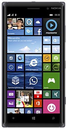 "Nokia Lumia 830 - Smartphone libre Windows Phone (pantalla 5"", 16 GB, 1.2 GHz, Qualcomm Snapdragon, 1 GB), negro [importado]"
