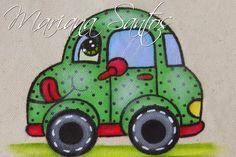 Oi pessoal, estes dias postei aqui no site os desenhos de quatro carrinhos que eu adoro pintar, peguei eles em um papel para decoupage, q...