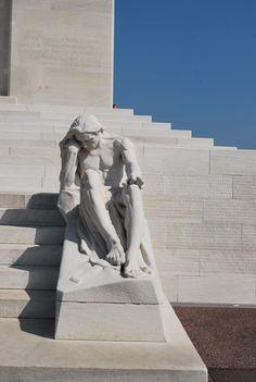 Statue at Vimy Ridge Memorial