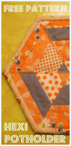 NEED to make potholders! Now I have no excuse! - Creating at Home: Hexi Potholder Pattern ~ a freebie for you!