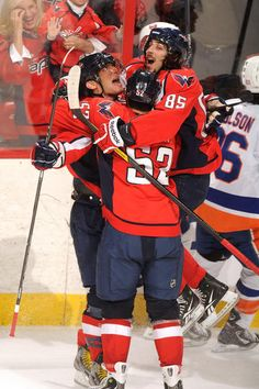 yes! ovechkin, perreault, and green celebration <3