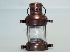 """Iron Anchor Oil Lamp 11"""" from Handcrafted Nautical Decor - In stock and ready to ship"""