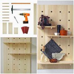 DIY Pegboard Shelving System Tutorial   DIY & Crafts Tutorials