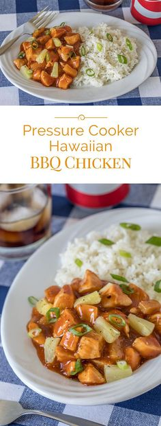 If you love BBQ chicken and Hawaiian chicken teriyaki, you'll love this easy-to-make Pressure Cooker Hawaiian BBQ Chicken. A mash up of flavors with tender chunks of chicken and sweet pineapple in a tangy barbecue sauce. . . #pressurecooking #chicken #hawaiianbbqchicken
